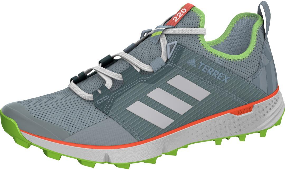 adidas TERREX Speed LD Chaussures de trail Femme, ash greyfootwear whitesignal green